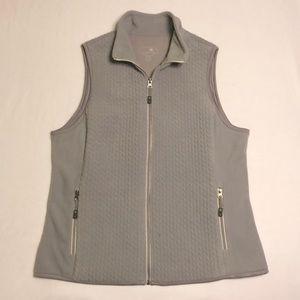 LIKE NEW Tangerine Fuzzy Zip Up Sweater Vest